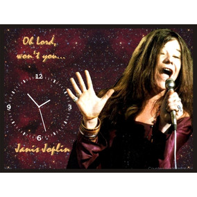 Janis Joplin - Quadro Com Relógio