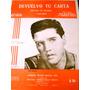 Antigua Partitura Elvis Presley 1963 Devuelvo Tu Carta