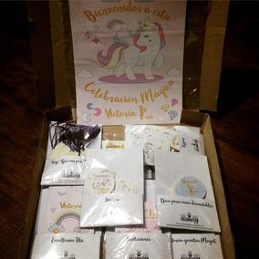 Party Box Candy Bar Unicornios Cumples 24 Invitados