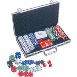 Jogo De Baralho Múltiplo Poker Deluxe 300 Fichas - Nautika