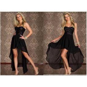 Hermoso Vestido Negro, Strapless