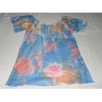 Blusa Transparente Tecido Leve - Sem Uso- P/m