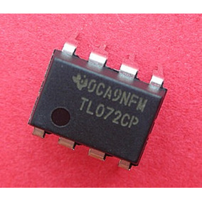 5 Pcs Tl072 Low Power Jfet In Dual Op-amp Dip-8