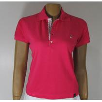 Blusa Baby Look, Golfe, Referência 193, Tamanho M. Pink.