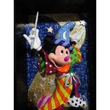 Romero Britto Quadro Escultura Em 3d Mickey Feiticeiro 27cm