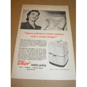 ( L - 290/ P ) Propaganda Antiga Máquina Lavar Roupas Thor