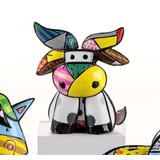 Romero Britto Mini Brazil Cow Nova Coleção Miniaturas