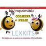 Kit Imprimible Candy Bar Colmena Feliz