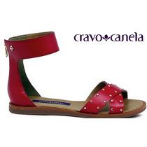 Sandália Rasteira Cravo & Canela Com Tachas 140801-2