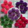 Flores De Tela Tipo Pompones Cintillos Coronas Y Lazos