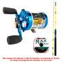 Carretilha Marine Sports Caster 400 + Vara + 1 Linha