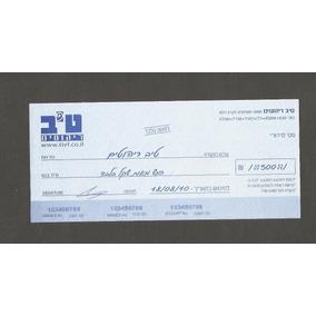 Israel Cheque Antigo - Em Arabe - Tivf Bank