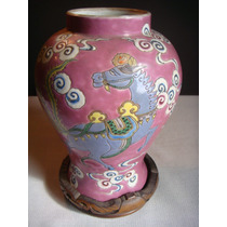 Vaso Antigo Em Porcelana Chinês Para Coleção + De 100 Anos