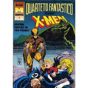 Hq - Nº1 Quarteto Fantástico X- Men - Rara -out.91-100 Pgs.
