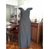 Vestido Conjunto De Chantú Raso Opaco, Modista Alta Costura