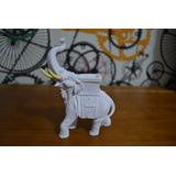 Escultura Elefante Marfin Indiano Po Marmore 14cm Made Italy