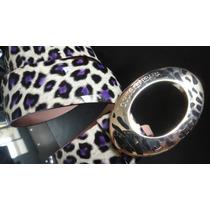 Cinto Dolce D&g Purple Leopard Collection