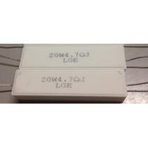 20 X Resistor 4r7 20w * 4,7 Ohms 20w Porcelana * 4.7r 20w