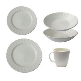 Juego Vajilla 16 Piezas Corona Caribe Oslo Porcelana Platos