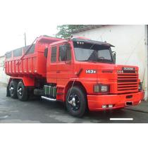 Scania 143 Ew Motor 113 Caçamba Traçado Basculante Truck 6x4