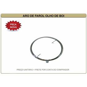 Aro De Farol Fusca Olho De Boi 63/72 Ferro + Lente Vidro Par