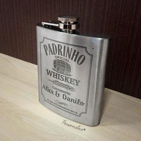 Cantil Inox Porta Bebida Personalizado Lembrança Casamento