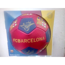 Balon Original Del Barcelona Firmado Messi Y Todo El Equipo