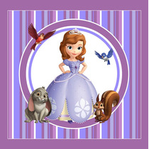 Kit Imprimible Princesa Sofia Candy Bar Invitaciones Deco