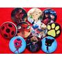 10 Pines Prendedores Colección Miraculous Ladybug Cat Noir