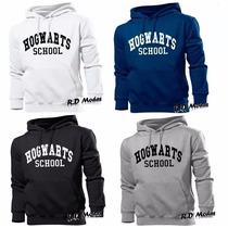 Blusa Moletom Hogwarts School Harry Potter Canguru C/ Frete