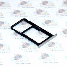 Bandeja Porta Doble Nano Sim Chip Micro Sd Huawei P9 Plata