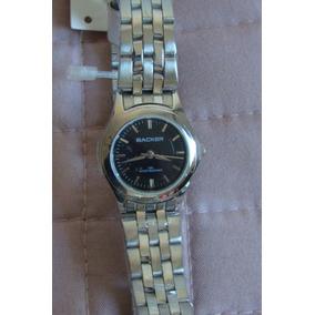 Relógio Backer 1698153f Social Caixa Aço Fundo Preto