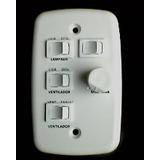 Controle Para Ventilador De Teto 4x2 Com 2 Interruptores