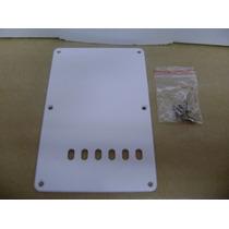 Escudo Traseiro Back Plate Branco Guitar Strato + Parafusos