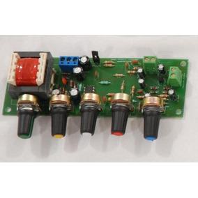 Placa Lisa Pra Montar Pré-amplificador De Audio C/ Controles