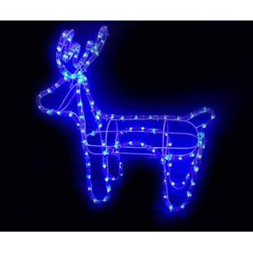 Rena Natalina Iluminada 112 Lampadas De Led Azul
