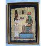 Pintura Egipcia Papiro Moldura Alum.c/vidro Frete Grátis