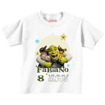 Camisa Infantil Shrek! Customizada Para Aniversário Temático