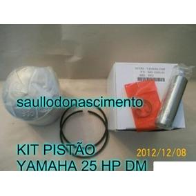 Kit Pistão Motor De Popa Yamaha 25 Hp Dm Até 96