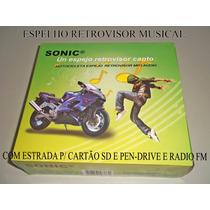 Retrovisor Universal Com Som Mp3 E Rádio Fm
