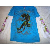Camisa Original Ml, Ed Hardy( Christian Audigier) Tam L (g)