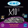 Corrente Kmc X10 10v 116 Links 280gr Shimano Sram Campagnolo