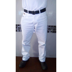 Pantalones O Jens Blancos De Caballeros Modelo Industrial