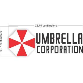 Adesivo Resident Evil Umbrella Corp Viantage 22x9cm