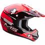Capacete Ims Action Motocross Preto / Vermelho - Tamanho 62