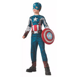 Fantasia Infantil Capitão America Vingadores 2 Longa Marvel