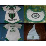 Pack Bebe X3 Body + Babero + Gorro Futbol Todos Los Equipos