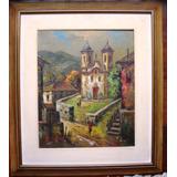 Oleo Sobre Tela - Pintura Espatulada Igreja Ouro Preto