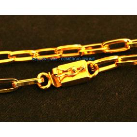 Conj Cordão 70cm +pulseira+anel Banhados Ouro - Fecho Gaveta