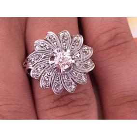 Anel De Platina Cravejado De Diamantes